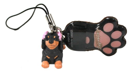 nintendogs-black-dachshund-cell-phone-strap-with-screen-cleaner