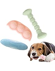 Dog Chew Toy for Teething, 2-8 Months Durable Puppy Teething Chew Toys 360° Clean Pet Teeth & Soothe Pain of Teeth Growing Puppy Toys Suitable for Small and Medium Dogs (3 Pack)