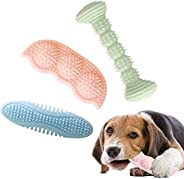 Dog Chew Toy for Teething, 2-8 Months Durable Puppy Teething Chew Toys 360° Clean Pet Teeth & Soothe Pain