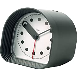 Alessi Aleesi 02 B Optic Alarm Clock, Black