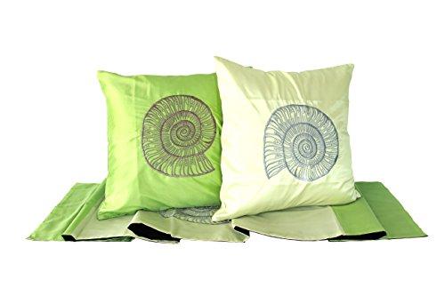 Lotus House Sea Collection Set - Sea Green (Bedroom - 3 Piece) (3, Sea of Green) by Lotus House