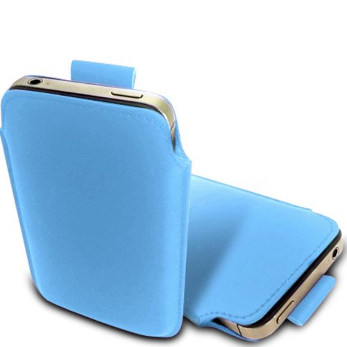N E Fing Light Blue PU leather pull - Nokia Lumia N 900 Case