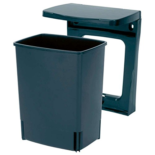 Trash Can Brabantia Rectangular (Brabantia 395246 10-Liter Rectangular Built-In Bin, Black)