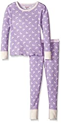 Hanes Little Girls' Thermal Underwear Set, Leopard,  X-Small/4-5
