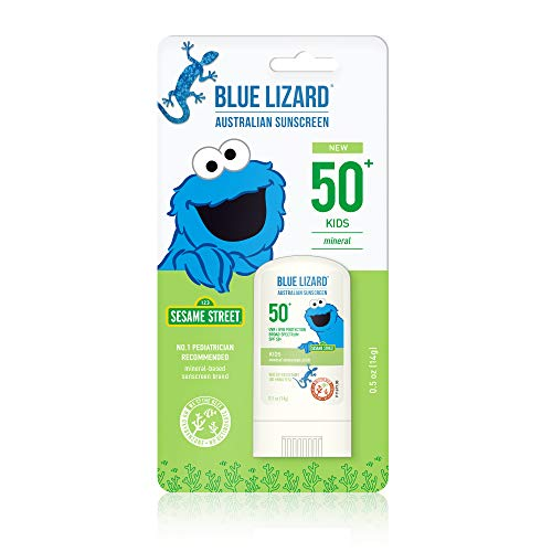 Blue Lizard Kids Mineral Sunscreen Stick – No Chemical Actives – SPF 50+, 5 Ounce