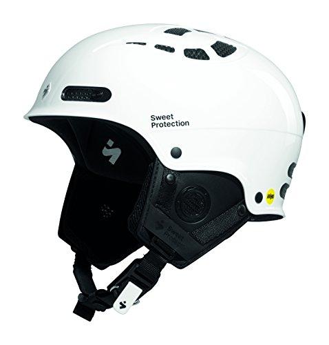 Sled Slalom (Sweet Protection Igniter II MIPS Ski and Snowboard Helmet, Gloss White, Large/X-Large)