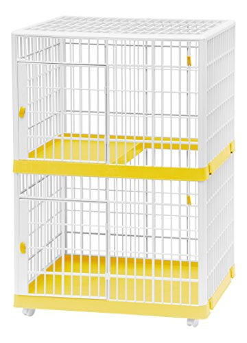IRIS 2-Tier Cat Cage, Yellow by IRIS USA, Inc.