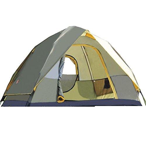 ZC&J Outdoor 3-4 Personen öffnen automatisch Zelte, Polyester wasserdicht atmungsaktiv, Anti-Moskito, Wind und zuverlässig, portable Outdoor-Zelt