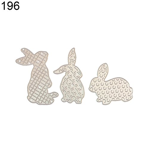 Potato001 Metal Photo Album Easter Egg Rabbit Cutting Die Embossing Scrapbooking Stencil