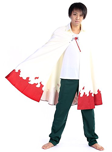 Naruto 7th Hokage Costume (SDWKIT Naruto Shippuden Cosplay Hidden Leaf Village Nanadaime Hokage Cloak V11)