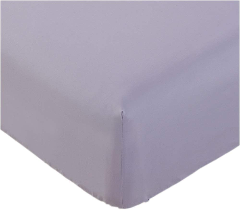Mellanni Fitted Sheet King Lavender - Brushed Microfiber 1800 Bedding - Wrinkle, Fade, Stain Resistant - Hypoallergenic - 1 Fitted Sheet Only (King, Lavender)