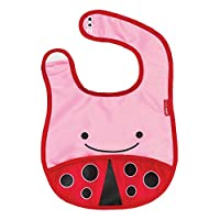 Skip Hop Zoo Little Kid and Toddler Tuck-Away Water Resistant Baby Bib, Multi...