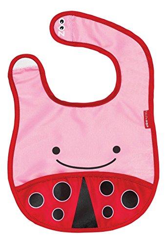 Skip Hop Zoo Little Kid and Toddler Tuck-Away Water Resistant Baby Bib, Multi Livie Ladybug