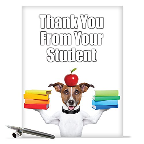 J3616 Jumbo Funny Thank You Card: Thank You from Your Student With Envelope (Extra Large Version: 8.5'' x 11'')