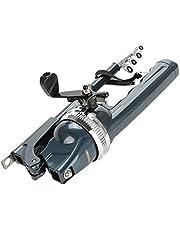 VGEBY Canne à pêche avec Moulinet en Acier Inoxydable, Portable, Pliable, télescopique avec kit de Moulinet