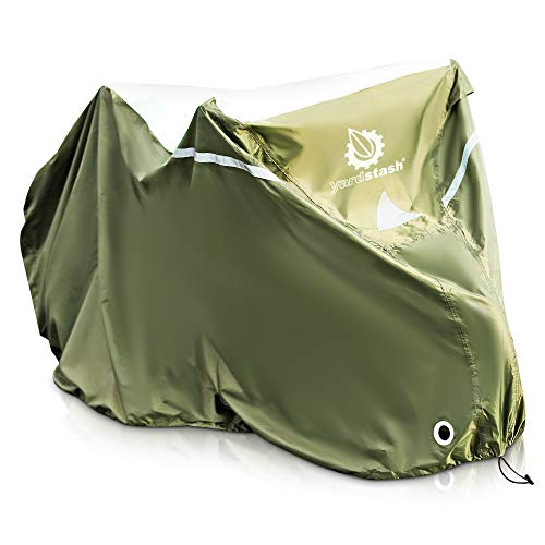 YardStash Bicycle Cover XL: Extra Large Size for Beach Cruiser Cover, 29er Mountain Bike Cover, Electric Bike Cover, Multiple Kids' Bike Cover and Cover for Bikes with Baskets, Child Seats - Scooter Cheap Moped