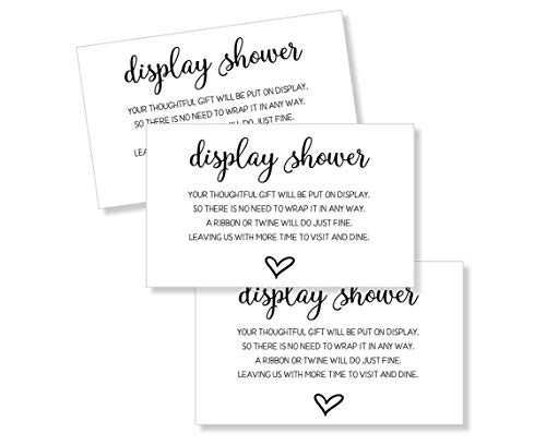 50 Display Shower Insert Cards, Display Shower Card, Display Shower Tags, Display Shower Invitation, Bridal Shower Insert, Baby Shower Display Cards (50-Cards)