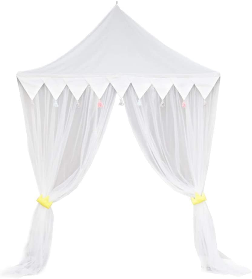 curtain Mosquito Dyna-Living Bed Canopy for Children Princess Elastic Cotton Hanging Kids Indoor Outdoor Play Tent Round Doom Nursery Bedroom Bed Decoration