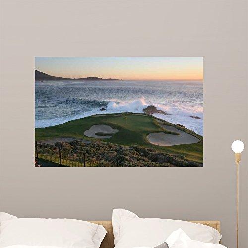 Wallmonkeys GEN-10274-36 WM78585 Pebble Beach Golf Hole 7 Peel and Stick Wall Decals (36 in W x 23 in H), Large ()