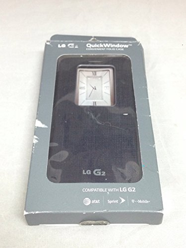 LG Electronics LG G2 QuickWindow Convenient Flip Folio Case - AT&T, T-Mobile, Sprint
