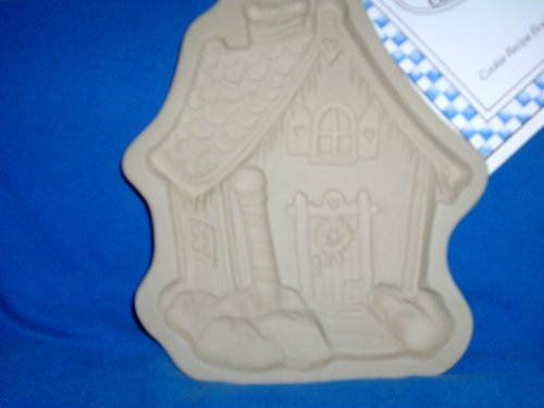 Brown Bag Cookie Art Mold - 1989 North Pole Cottage