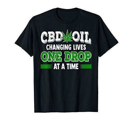 CBD Oil Shirt Cannabinoid Hemp Heals Slogan Quote Fun Gift  T-Shirt