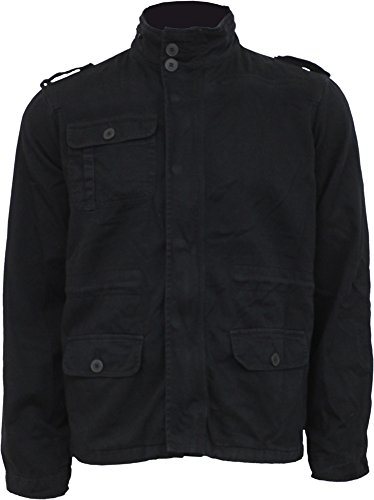 Spiral Mens - Urban Fashion - Military Lined Jacket With Hidden Hood - L ()