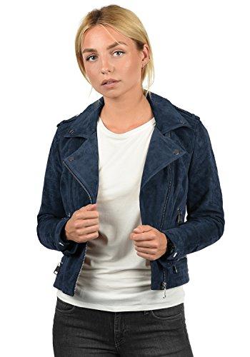 Cuello Leda Vero Mujer Chaqueta para Piel Biker Moda con Blazer De Bff6q