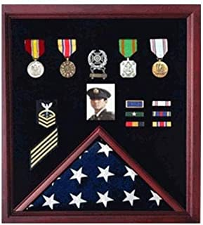 product image for 4 x 6ft Flag Display Case Combination for Medals Photos.