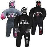 Deagle Eliminator 4 FT Kids MMA Wrestling BJJ Training Grappling Submission Dummy (Black/Gray, 4FT)