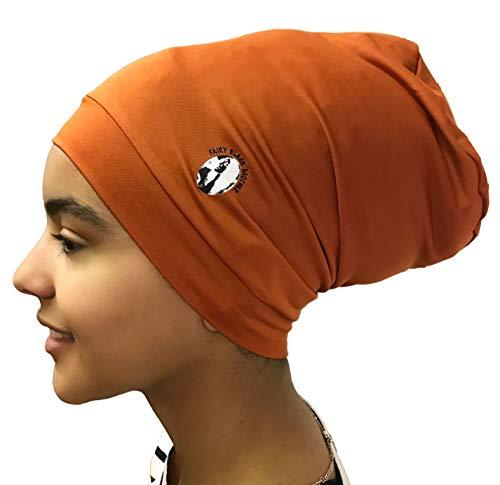 (Fairy Black Mother Dreadlocks Locs Cap (Large,Orange rust))