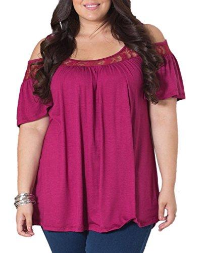 Greatgorgeous - Camisas - con aberturas - para mujer rojo vino