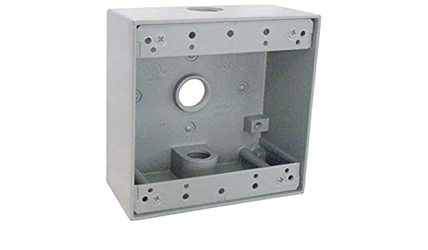Master Electrician FSB50-5 Weatherproof 1 Gang Rectangular Outlet Box Five 1//2-Inch Holes