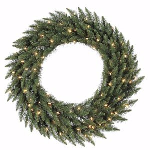 Vickerman Clear Dura-lit Lights Frosted Bellevue Alpine Artificial Christmas Wreath, 72-Inch by Vickerman (Image #1)