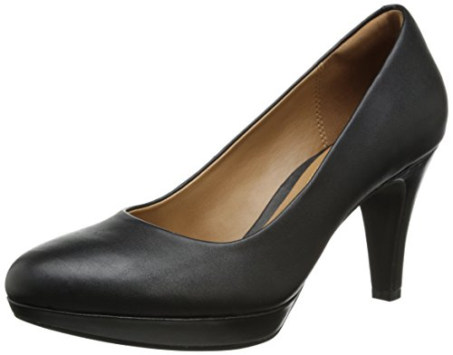 Clarks Women's Brier Dolly Dress Pump, Black Leather, 10 M US by CLARKS
