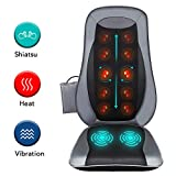 Naipo Back Massage Seat Cushion with Heat for Chair, Deep Kneading...