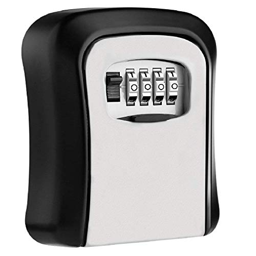 Techzere Combination Key Safe Box/Key Safe Lock Box Outdoor Storage Box with Code Combination Password Security Lock