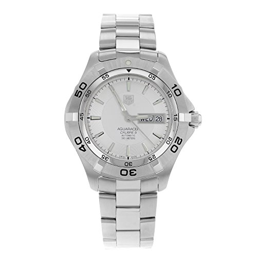 Aquaracer Silver Dial - TAG Heuer Men's WAF2011.BA0818 Aquaracer Silver Dial Stainless Steel Automatic Watch