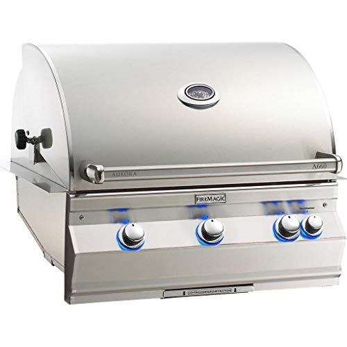 Fire Magic Aurora A660i 30-inch Built-in Natural Gas Grill With Analog Thermometer And Rotisserie – A660i-6ean