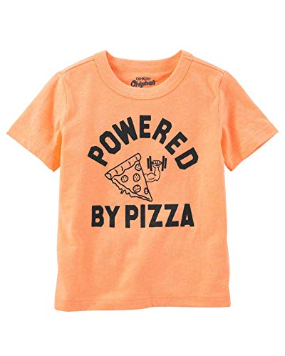 OshKosh B'Gosh Big Boys' Original Graphic Tee, Powered by Pizza, 8-Kids