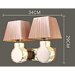DGS Crystal Remote Control Wall Lamp Bedside Bedroom Warm Wall Lamp Creative Living Room Led Crystal Double Head Candle Wall Lamp , 3