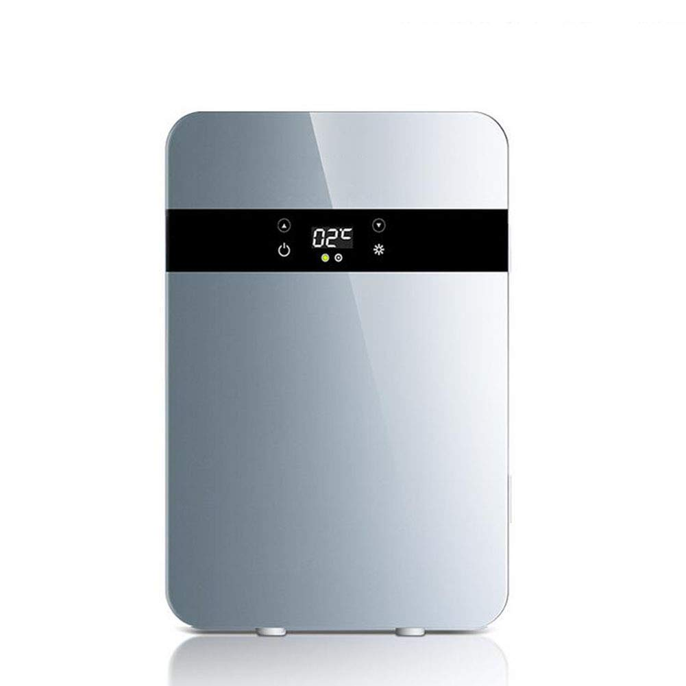 GJLR Car Refrigerator 20L Mini Refrigerator Car Home Dual-use Refrigeration Heating and Cooling Device,Silver