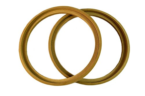 Audiopipe 1 Pair 10' RING-10BZ MDF Speaker Ring Recess with Bezel MOUNTING Spacer RECESSED