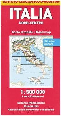 Cartina Geografica Centro Nord Italia.Amazon It Italia Nord Centro 1 500 000 Instituto Geografico Deagostini Libri