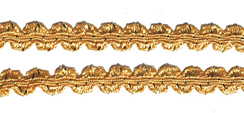 Gold Flat Braid - Gold/Gold Braided - Gold Flat Trim - Gold RIC Rac -,3/8