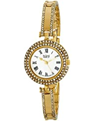 Burgi Womens BUR108YG Swiss Quartz Crystal Mother-of-Pearl Gold-tone Bracelet Watch
