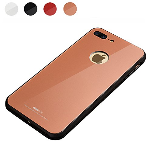 iphone 8 Plus Case -9H Color Tempered Glass Protector Back C