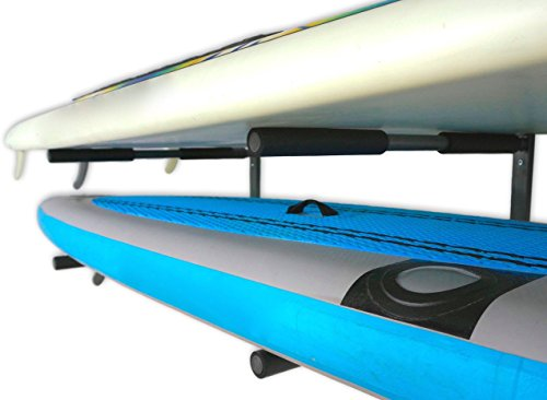 StoreYourBoard SUP Wall Rack | Indoor Paddleboard Storage Mount (2 Tier)