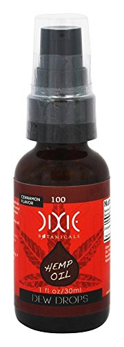 Dixie Hemp Extract Oil with Conjugated Linoleic Acid (CLA) - Cinnamon Flavor 1oz/30ml Hemp Supplement