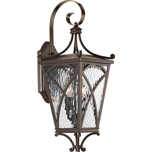 Progress Lighting P6638-108 Cadence Two-Light Med Wall Lantern, Oil Rubbed Bronze ()